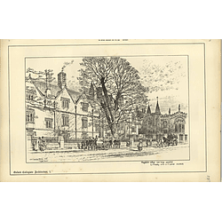 1888, Magdalen College Oxford Now Being Completed, Sketch Raffles Davison