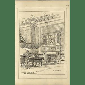 1888, The National Liberal Club, Billiard Room, Alfred Waterhouse Architect