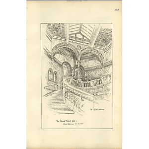 1888, The National Liberal Club, Grand Staircase, Alfred Waterhouse