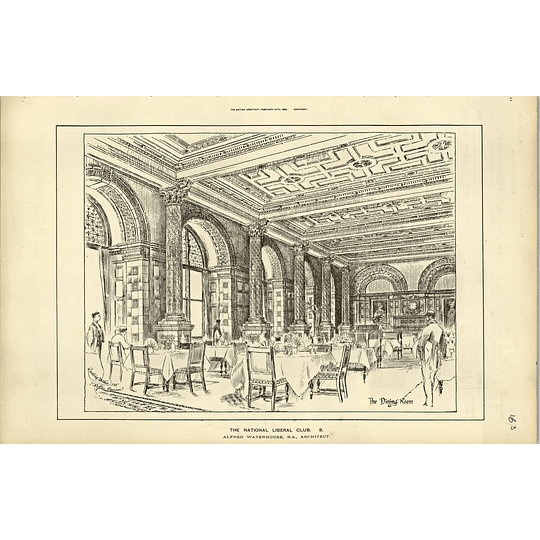 1888, The National Liberal Club, The Dining Room