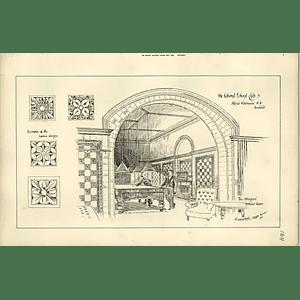 1888, The National Liberal Club, The Strangers Billiard Room
