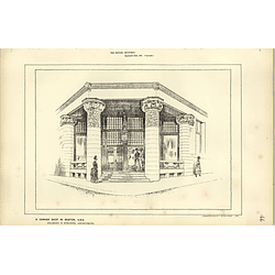 1886, Cornershop In Boston, Usa Sketched By Raffles Davison