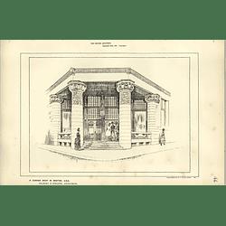 1886, Cornershop In Boston, Usa Sketched By Raffles Davison