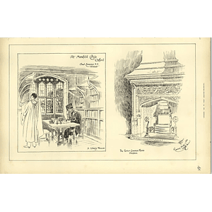 1891, At Mansfield College Oxford, Library Recess, Senior Common Room Fireplace