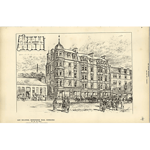 1887, New Buildings Morningside Road Edinburgh For Mr James Slater