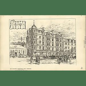 1887, New Buildings Morningside Road Edinburgh For Mr James Slater