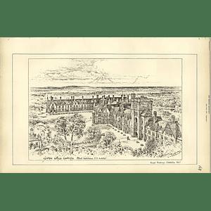 1887, Girton College Cambridge, Alfred Waterhouse Architect