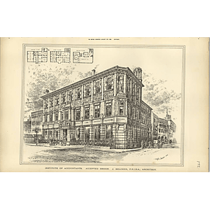 1889, Institute Of Accountants Accepted Design J Belcher Architect