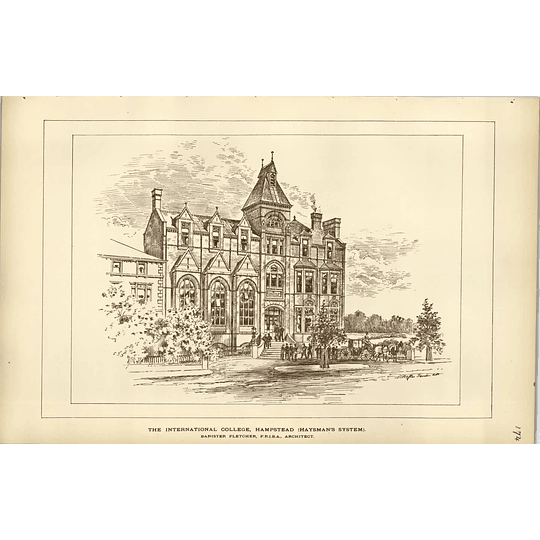 1890, The International College Hampstead, Haysman's System, Bannister Fletcher