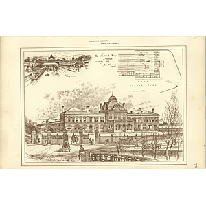 1886, The Norwich Thorpe Station, View From The City, Plan John Wilson Engineer