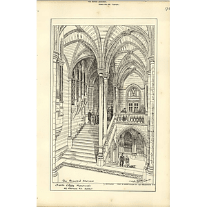 1887, Owens College Manchester, Principal Staircase
