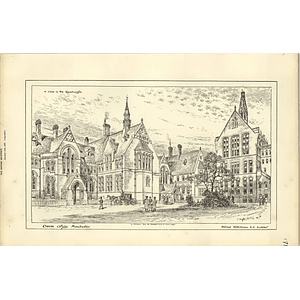 1887, Owens College Manchester, View In The Quadrangle
