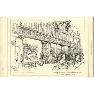 1890, Henry Heath, Hatterie, Shop Front, Sculptured Frieze Benjamin Creswick