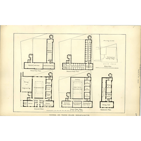 1887, Technical And Training College Newcastle Upon Tyne Floor Plans