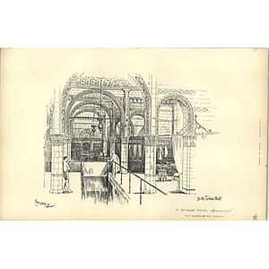 1892, Seaside Hotel Brighton, In The Turkish Bath, Alfred Waterhouse