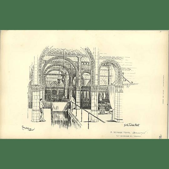 1892, Seaside Hotel Brighton, In The Turkish Bath, Alfred Waterhouse