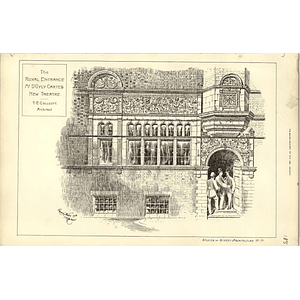1890, Royal Entrance Mr D'oyly Carte New Theatre, Te Collcutt