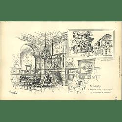 1892, Seaside Hotel Brighton Smoking Room, Alfred Waterhouse
