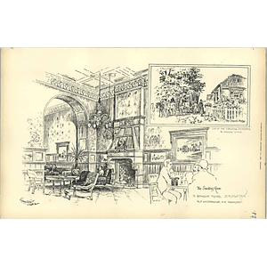 1892, Seaside Hotel Brighton Smoking Room, Alfred Waterhouse