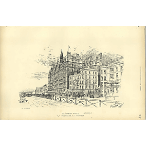 1892, Seaside Hotel In Brighton Sketched From The Parade, Alfred Waterhouse