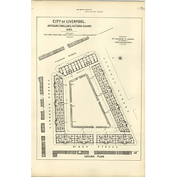 1885, City Of Liverpool Artisan's Dwellings Design Plan
