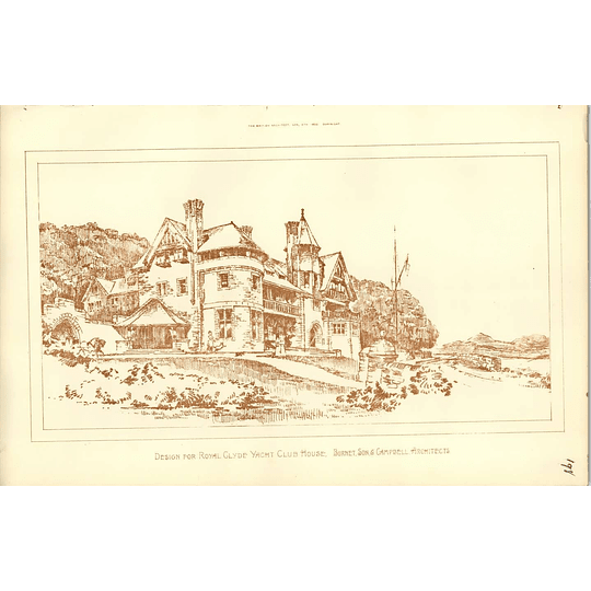 1890, Design For Royal Glyde Yacht Clubhouse, Burnet Campbell