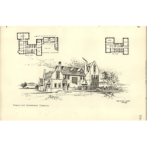 1890, Design For Andorphanage In Glasgow, Frank Simon Architect
