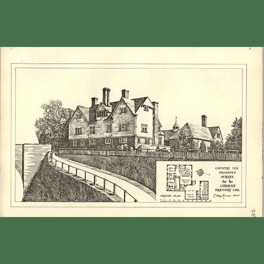 1890, Country Inn Oxshott Surrey Cobham Brewery Ricardo Architect