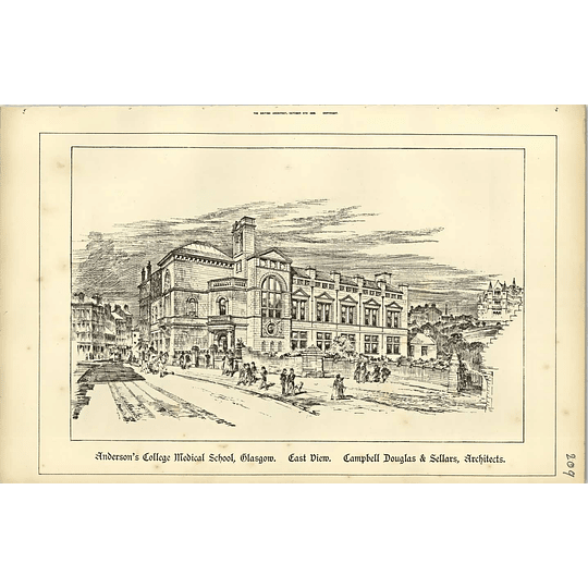 1888, Andersons College Medical School, Glasgow East View