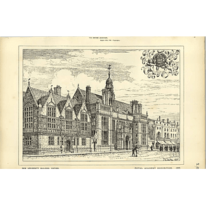 1886, New University Building At Oxford, Tg Jackson Architect