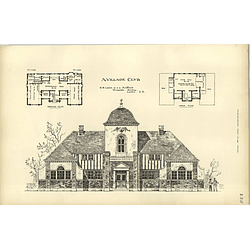 1893, Design For A Workmen's Institute And Village Club By Eb Lamb