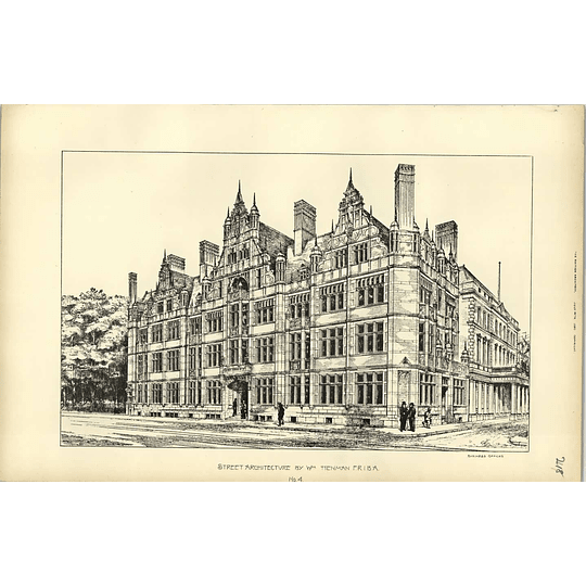 1893, Architectural Design Of Some Business Offices By William Henman