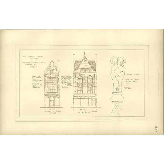 1893, Two Narrow Shop Fronts In Swansea, College Street, Gower Street