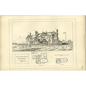 1893, West Lancashire Golf Club, New Clubhouse, Design Plan