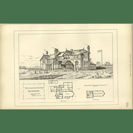 1893, West Lancashire Golf Club, New Clubhouse, Design Plan