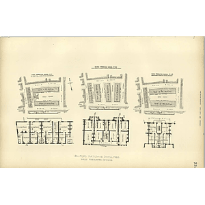 1893, Salford Artisan's Dwellings, Three Premiated Designs