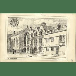 1885, New Buildings Merton Street Oxford Corpus Christi, Tg Jackson
