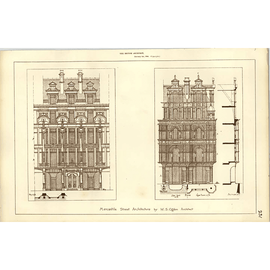 1886, Mercantile Street Architecture By Ws Ogden