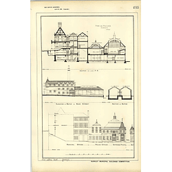 1885, Burnley Municipal Buildings Comp, Baths, Police Offices, Dunn Maclaren