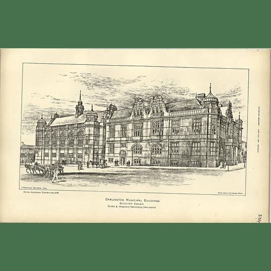 1895, Darlington Municipal Buildings, Clark Moscrop, Raffles Davison
