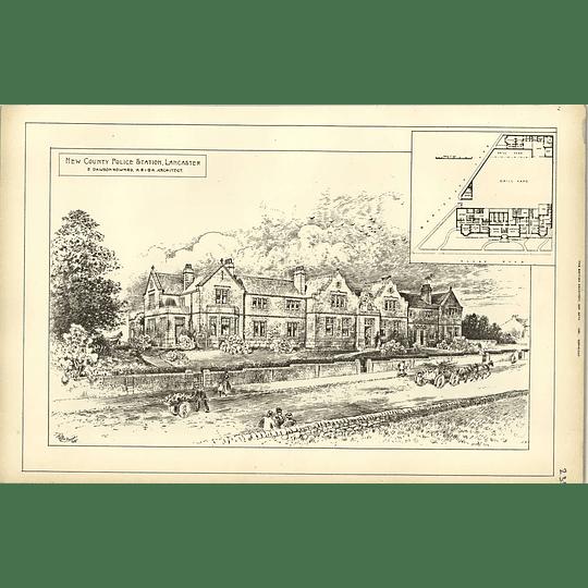 1891, New County Police Station, Lancaster Dawson Howard