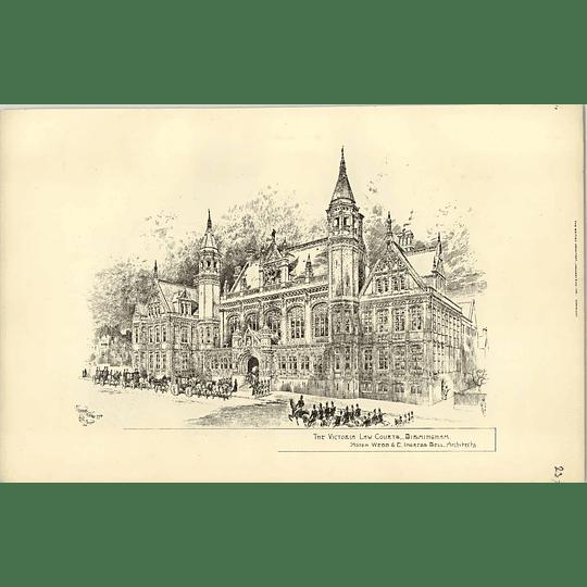 1891, The Victoria Law Courts, Birmingham Exterior View