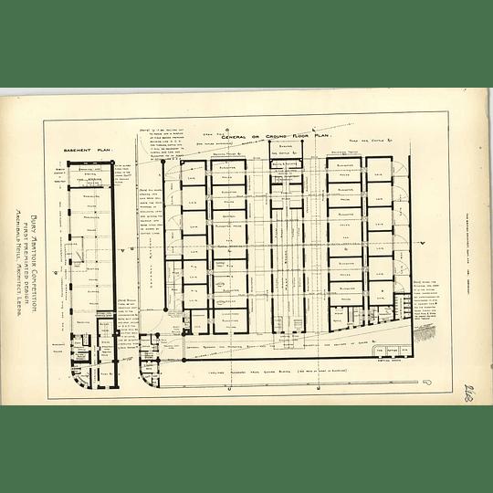 1891, Bury Markets Competition First Design Archibald Neil, Plan, Layout,