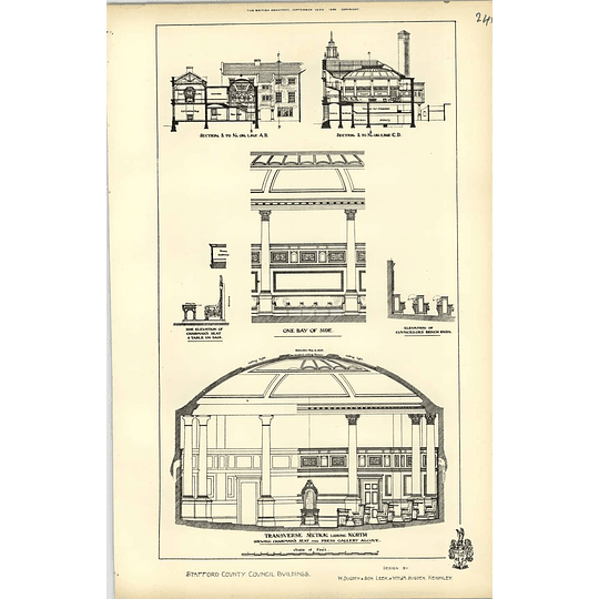 1892, Stafford County Council Buildings Transverse Sections, Sugden