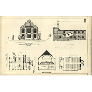 1883, Cheadle Town Hall And Library, Plans Sections