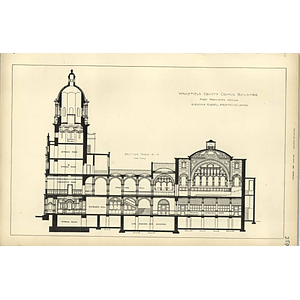 1883, Wakefield County Council Buildings, First Design Plan