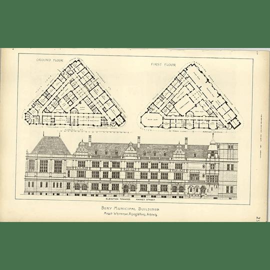 1891,bury Municipal Buildings Competition Whiteman Floor Plans