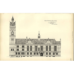 1891, Bury Municipal Buildings Competition Design Whiteman Rising