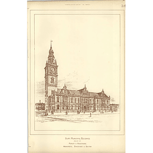 1891, Bury Municipal Buildings Competition Morley Woodhouse