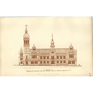 1892, Oxford Municipal Buildings Design, Harrison Architect